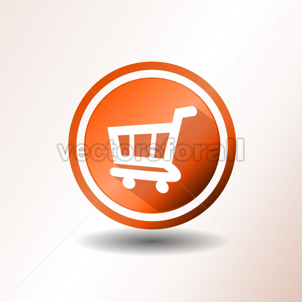 Shopping Cart Flat Icon - Vectorsforall