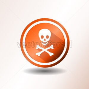 Skull And Crossbones Icon In Flat Design - Vectorsforall