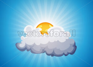 Sky Background With Sunshine And Cloud - Vectorsforall