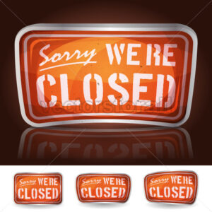 Sorry We're Closed Sign - Vectorsforall
