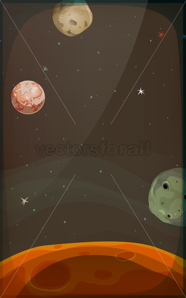 Space Background With Planets And Stars For Mobile - Vectorsforall