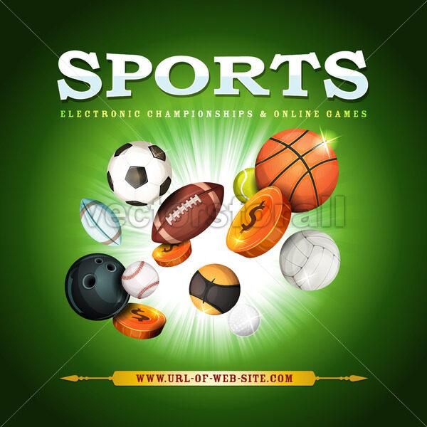 Sports Background - Vectorsforall
