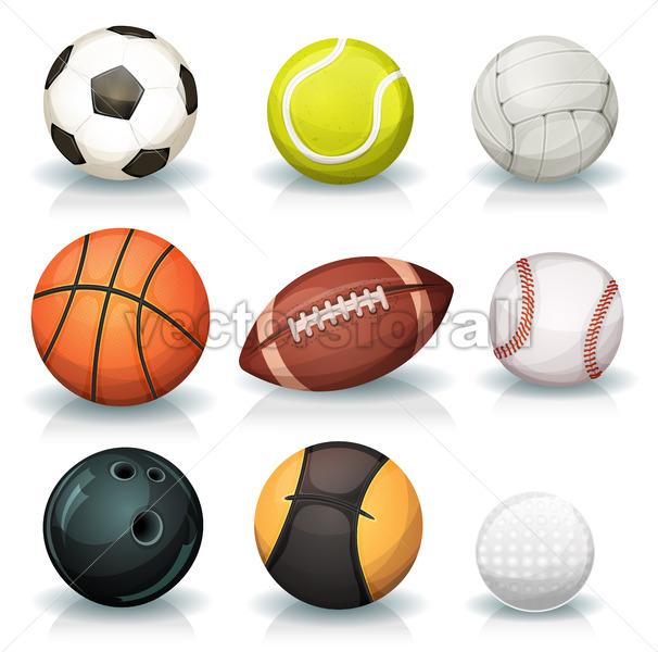 Sports Balls Set - Vectorsforall