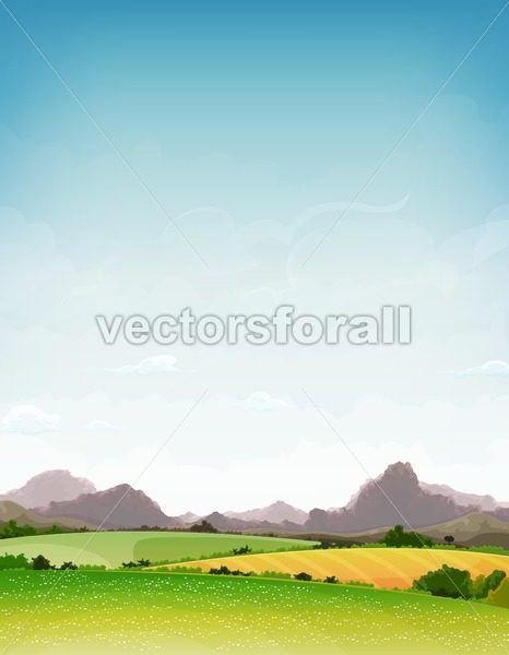 Spring And Summer Nature Landscape - Vectorsforall