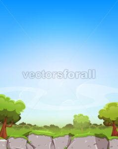 Spring Landscape Background - Vectorsforall