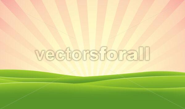 Spring Morning Sky - Vectorsforall