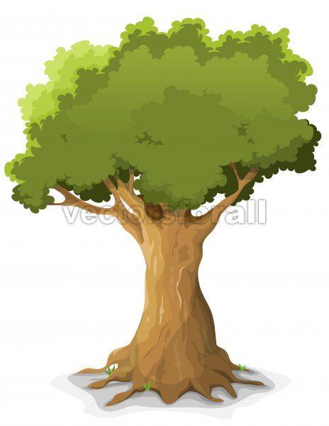 Spring Oak Tree - Vectorsforall