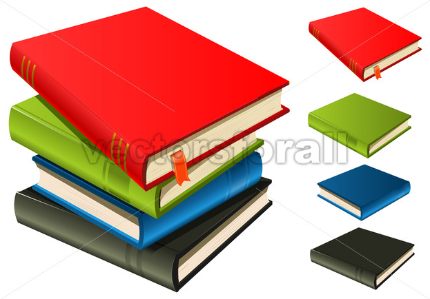 Stack Of Books – Set And Separated - Vectorsforall