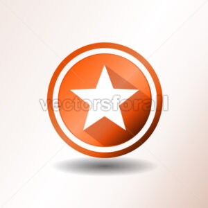 Star Icon In Flat Design - Vectorsforall
