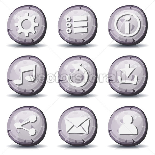Stone And Rock Icons For Ui Game - Vectorsforall