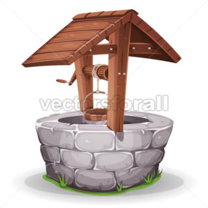 Stone And Wood Water Well - Vectorsforall