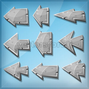 Stone Arrows Signs For Ui Game - Vectorsforall