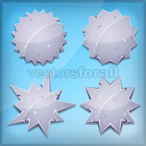 Stone Awards And Seal Icons For Ui Game - Vectorsforall