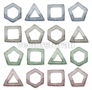 Stone Squares, Triangles And Other Shapes Set - Vectorsforall