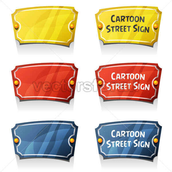 Street Wall Sign - Vectorsforall