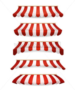 Striped Awnings For Market Store - Vectorsforall