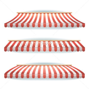 Striped Awnings Set - Vectorsforall