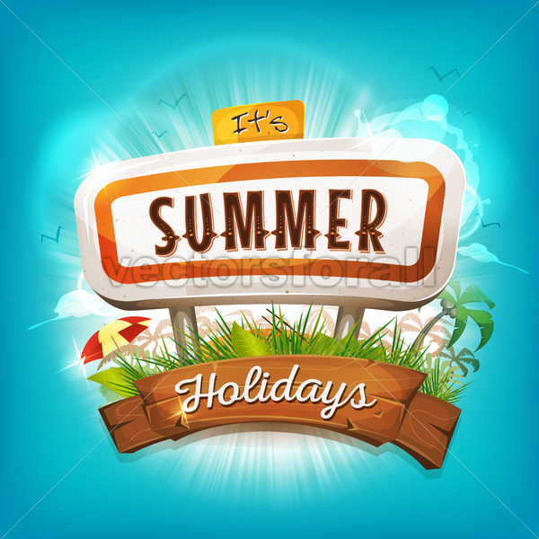 Summer Holidays Background - Vectorsforall