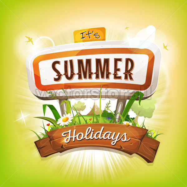 Summer Time Background - Vectorsforall