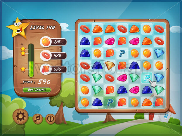 Switcher Game User Interface For Tablet Pc - Vectorsforall