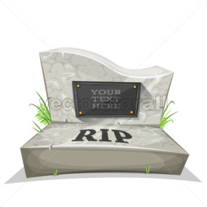 Tombstone With RIP Inscription - Vectorsforall
