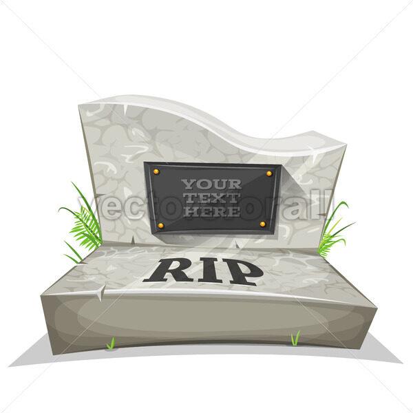 Tombstone With RIP Inscription - Vectorsforall