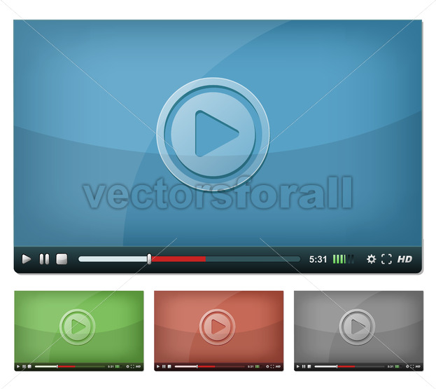 Video Player For Web And Tablet PC - Vectorsforall