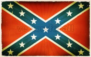Vintage American Confederate Flag Poster Background - Vectorsforall