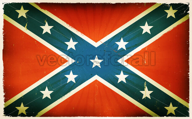 Vintage American Confederate Flag Poster Background - Vectorsforall
