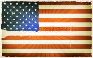 Vintage American Flag Poster Background - Vectorsforall