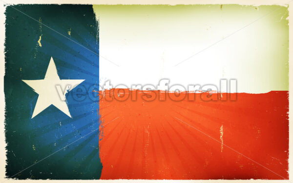Vintage American Texas Flag Poster Background - Vectorsforall