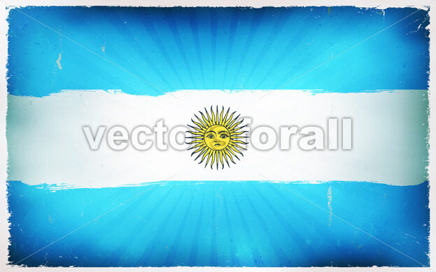 Vintage Argentina Flag Poster Background - Vectorsforall