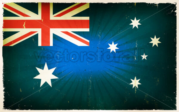 Vintage Australia Flag Poster Background - Vectorsforall