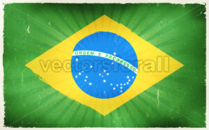 Vintage Brazil Flag Poster Background - Vectorsforall