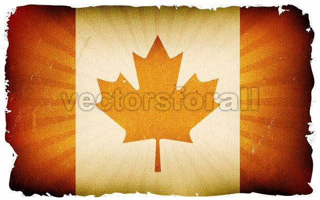 Vintage Canada Flag Poster Background - Vectorsforall