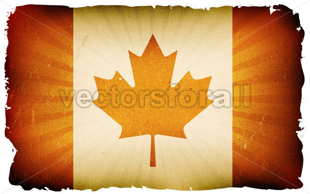 Vintage Canada Flag Poster Background - Vectorsforall
