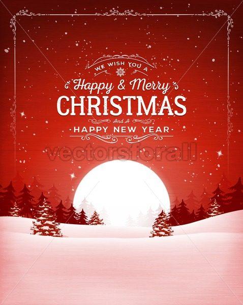 Vintage Christmas Background - Vectorsforall