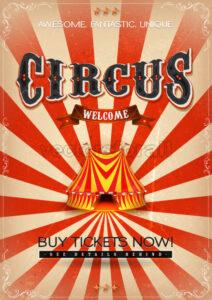 Vintage Circus Poster - Vectorsforall
