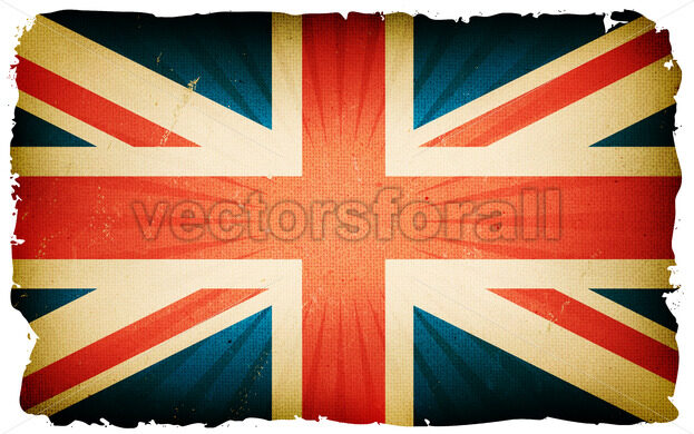 Vintage English Flag Poster Background - Vectorsforall