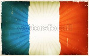 Vintage French Flag Poster Background - Vectorsforall