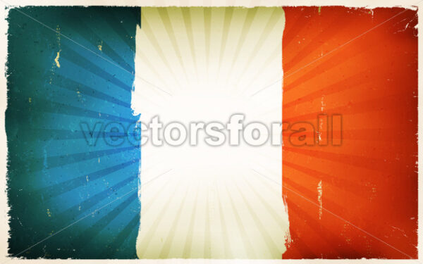 Vintage French Flag Poster Background - Vectorsforall