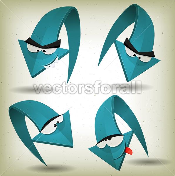 Vintage Funny Arrows Characters - Vectorsforall