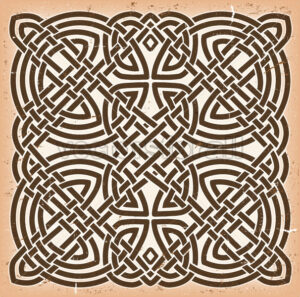 Vintage Grunge Celtic Mandala Background - Vectorsforall
