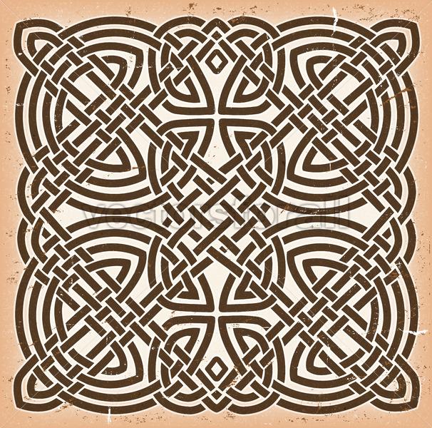 Vintage Grunge Celtic Mandala Background - Vectorsforall
