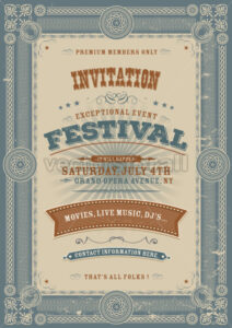 Vintage Holiday Festival Invitation Background - Vectorsforall