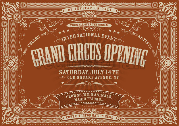 Vintage Horizontal Circus Background - Vectorsforall
