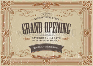 Vintage Horizontal Invitation Background - Vectorsforall