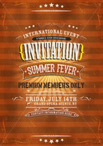Vintage Invitation Background - Vectorsforall