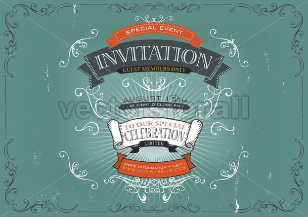 Vintage Invitation Poster Background - Vectorsforall