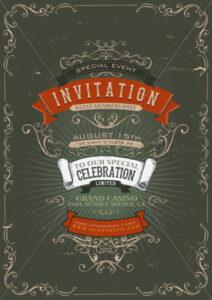 Vintage Invitation Poster Background - Vectorsforall